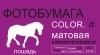 Бумага Color.it А4 (30x21) матовая неделенная самоклеящаяся 120 г/м 50 л. (лошадь)